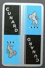1 x Joker playing card single Ship Cunard Cruises Shipping Blue/Silver AT637