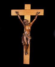 Christ du XVIII éme siècle en bois sculpté crucifix Christus Kruzifix 18cm Jesus