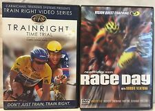 2 Cycling workout exercise fitness DVD lot Train Right Race Day indoor training