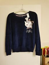 Lovely bnwt blue velvet beauty & the beast sweatshirt by Atmosphere size 4