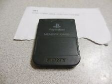 PLAYSTATION 1 OFFICIAL OEM SONY MEMORY CARD SCPH-1020 1 MB PS1 PS2 Black JAPAN