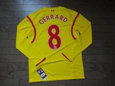 Liverpool #8 Gerrard 100% Original Jersey Shirt 2014/15 Away M BNWT NEW LS