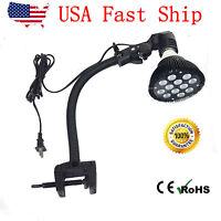 "15"" Adjustable and Flexible Aquarium Light Bulb Holder Gooseneck Clamp for NANO"
