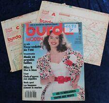 BURDA MODEN - Juillet 1988 - Complet des Patrons