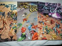 JLA Act of God #1-3 DC Elseworlds Graphic Novel Set 2001 Moench & Ross