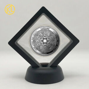 Silver Ada Cardano Crypto Cryptocurrency Collectible Physical Coin with Stand