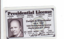 President of the US Dwight Eisenhower plastic collector card Drivers License