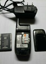 New listing Nokia Model 6061 Type Rh-74 Flip Cell Phone Powers On Dimned Screen With Charger