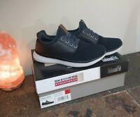 New Skechers Men's Streetwear Slip On Navy Black Memory Foam Shoes Size 8.5 nwb