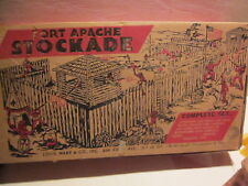VINTAGE 1950s, MARX #3612 FORT APACHE PLAYSET MINT WITH ORIG. COMPLETE BOX
