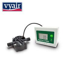 """VYAIR Digital LCD Water Flow Meter (Count Up) 0.05 - 1.0 L/Min: 1/4"""" BSP Male"""