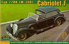 Ace Models 1/72 MERCEDES TYPE 770K (W-150) CABRIOLET F 7-Passenger Staff Car