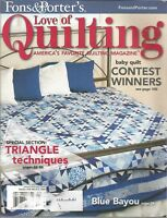 Fons & Porter's Love of Quilting Magazine - January/February 2008 - Triangle Tec