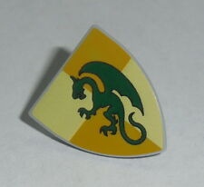 ACCESSORY Lego Shield Triangular with Dark Green Dragon Pattern  NEW 7946,7189