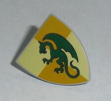 ACCESSORY Lego Shield Triangular with Dark Green Dragon Pattern  NEW 7946,7189