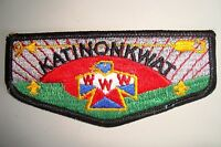 MERGED OA KATINONKWAT LODGE 93 109 350 65 OHIO PATCH PLASTIC DARK SERVICE FLAP