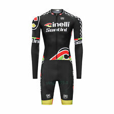 Cycling Long Sleeve Skinsuit Jumpsuit Conjoined Padded Size XL