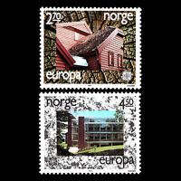 Norway 1987 - EUROPA Stamps - Modern Architecture - Sc 905/6 MNH