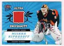 2006-07 ULTRA UNIFORMITY MIKKA KIPRUSOFF JERSEY 1 COLOR CALGARY FLAMES #U-MK