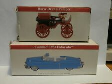 2 READERS DIGEST DIE CAST CARS 2001-1953 CADILLAC & 2000 HORSE DRAWN PUMPER