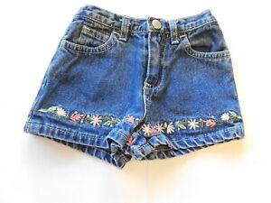 Old Navy Baby Girls Denim Jean Zip Up Shorts Size S 3-6 Months Blue GUC