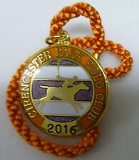 CIRENCESTER PARK POLO CLUB 2016 ENAMEL Badge with Cord