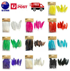 50X Craft Feathers Goose Feather DIY Art Party Decoration Wedding Dream Catcher