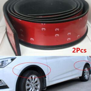2x 1.5M Foam Car SUV Fender Flares Lip Extension Black Wheel Arch Protector 6cm