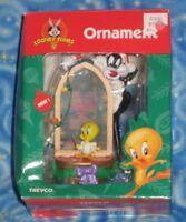 New Vintage Looney Tunes Christmas Ornament Sylvester Tweety Bird Trevco 1999