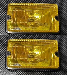 2 x Peugeot 205 GT I 309 GR CTI Replica Siem Spot Light Yellow with lens & frame