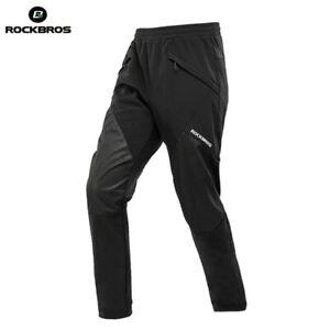 ROCKBROS Cycling Bicyle Pants MTB Winter Warm Men Pants Sport Riding Long Pants