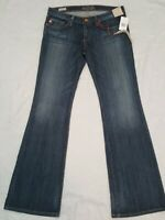 Vintage Denim Big Star Sweet Low Rise Dojo Bootcut Distressed Jeans Size 28