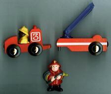 Wooden Train Accessory-3 Pc Fireman Set~Thomas/Brio/Maxim Comp-Boys & Girls 3+