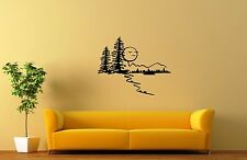 Wall Stickers Vinyl Decal Nature Landscape Forest Trees Moon ig1575