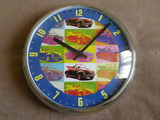 VOLKSWAGON VW RETRO BEETLE CAR WALL CLOCK. NEW AND BOXED.OFFICAL VW LICENSED
