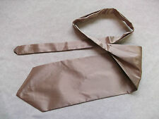 Ascot Cravat MENS Wedding Scrunchie Ruche One Size BEIGE