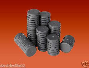 50 Round Disc Magnets 16mm x 3mm Ferrite Ceramic Disk Magnets for Craft & Fridge