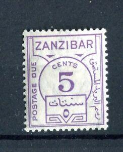 Zanzibar KGVI 1936-62 Postage due 5c violet SG.D25 MLH