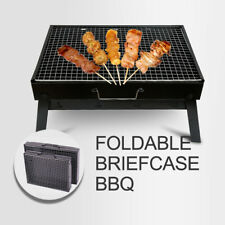 PORTABLE briefcase BBQ PIT/GRILL Easy To Use For Backyard Tabletop Or Picnics