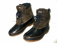 THINSULATE Pro Line Winter Duck Boots Black/Brown Leather Women's Sz 6 - 4 Youth