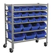 Sealey TPS22 Mobile Bin Storage System 22 Bins SWS21