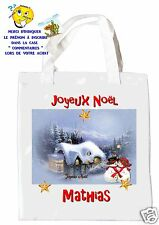 sac shopping noël sac à commissions sac à cadeaux joyeux noel réf 205