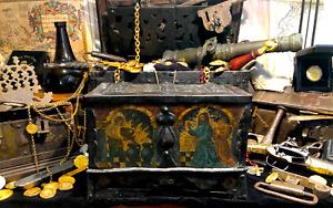 TREASURE CHEST 1600 NUREMBERG JESUS CHRIST PIRATE GOLD COINS SHIPWRECK ATOCHA ER