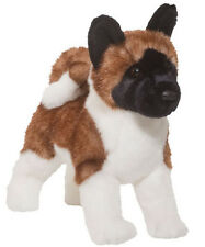 "New DOUGLAS CUDDLE TOY Stuffed Soft Plush Animal AKITA Japanese Puppy Dog 16"""