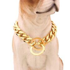 Pet Choke Chain Stainless Steel Training Dog Collars for Large Medium 12-34''