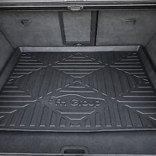 FH Group Trunk Cargo Organizer Premium Rubber Tray Mat Black Large