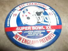 Super Bowl XX 1985 New England Patriots AFC Champions I WAS THERE Button 3 1/2""