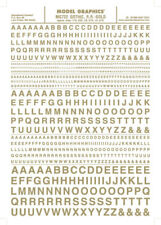 Woodland Scenics Gothic Gold Letters Dry Transfer Decals MG722 WOOMG722