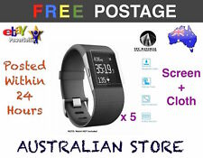 5x Screen Protector Plastic Film for Fitbit Surge Sports Watch Monitor Fit Bit