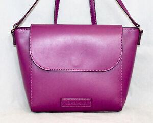 NWOT $88 VERA BRADLEY 14320 Flap Crossbody Purple Faux Leather